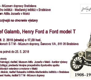 JÓZSEF GALAMB, HENRY  FORD A FORD MODEL T